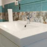 ristrutturazioni edili Roma - ristrutturazione bagno particolare lavabo doppio